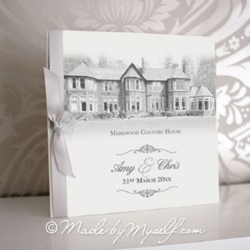 Merewood Country House Pocketfold Wedding Invitation - Includes RSVP & Guest Information